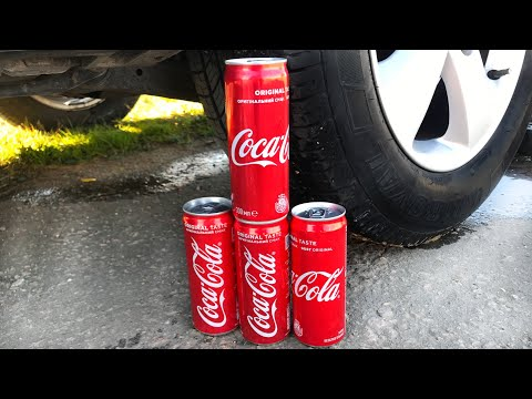 Crushing Crunchy & Soft Things by Car! EXPERIMENT CAR VS COCA COLA Cans