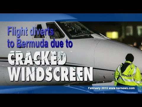 Plane Diversion Lands With Damaged Windshield, February 16 2015