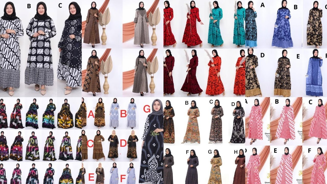 85 Trend Model Baju Gamis Batik Terbaru Dan Model Baju Gamis Batik Kombinasi Polos Modern Youtube