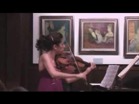 Paula Martinez - Beethoven - Violin Sonata Op 12 Nr 3 (first movement)