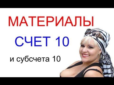МАТЕРИАЛЫ, подробно о счете 10 и его субсчетах