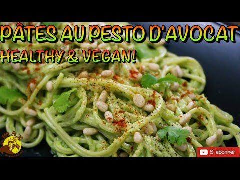 recette-de-pÂtes-au-pesto-d'avocat-🥑!!!-vegan-&-healthy-🌱