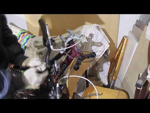 Вилка от мопеда альфа в велосипед. Часть 1