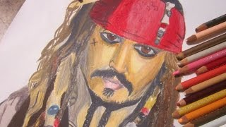 Drawing Jack Sparrow- Pirates of the Carribean