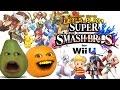 Annoying Orange & Pear Play SUPER SMASH BROS: Ryu vs Roy (New Characters!)