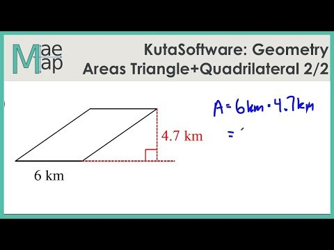 KutaSoftware: Geometry- Area Of Triangles And Quadrilaterals Part 2