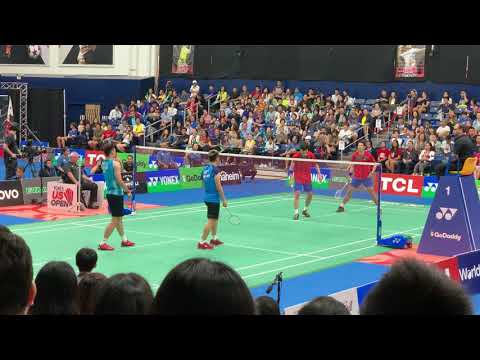 KO Sung Hyun/SHIN Baek Cheol Vs LEE Yang/WANG Chi-Lin YONEX US Open 2019 Badminton MD Final