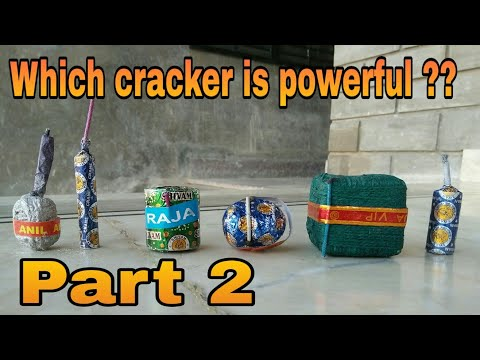 Testing the power of the crackers by keeping a cracker under bucket [ Part 2 ]