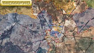 Видео обзор карты боевых действий в Сирии и Ираке от 14.12.2016г