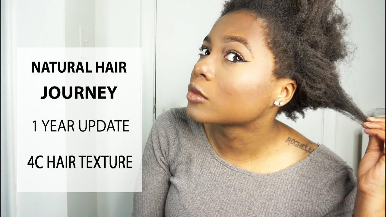 My Natural Hair Journey 1 Year Update 4c Hair Texture