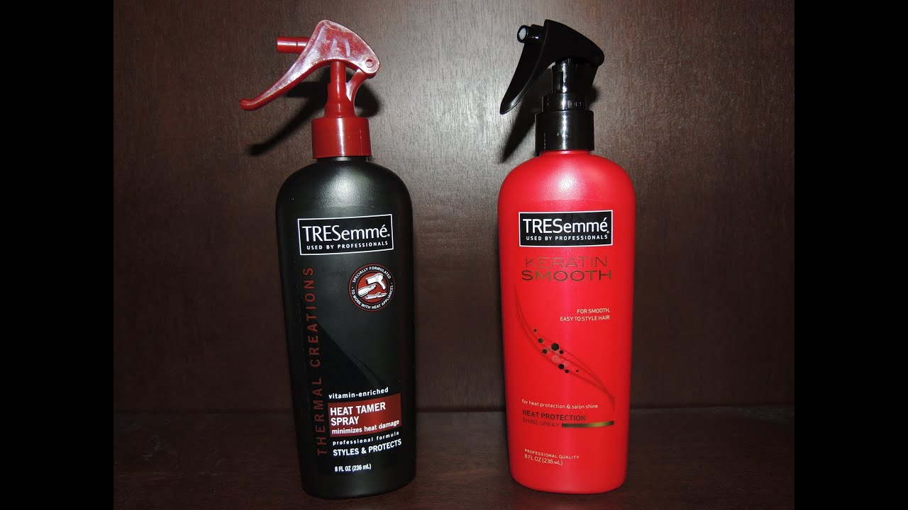 Tresemme Keratin Smooth Heat Protection Shine Spray vs