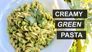 Creamy Green Pasta || Vegan, Quick and Easy