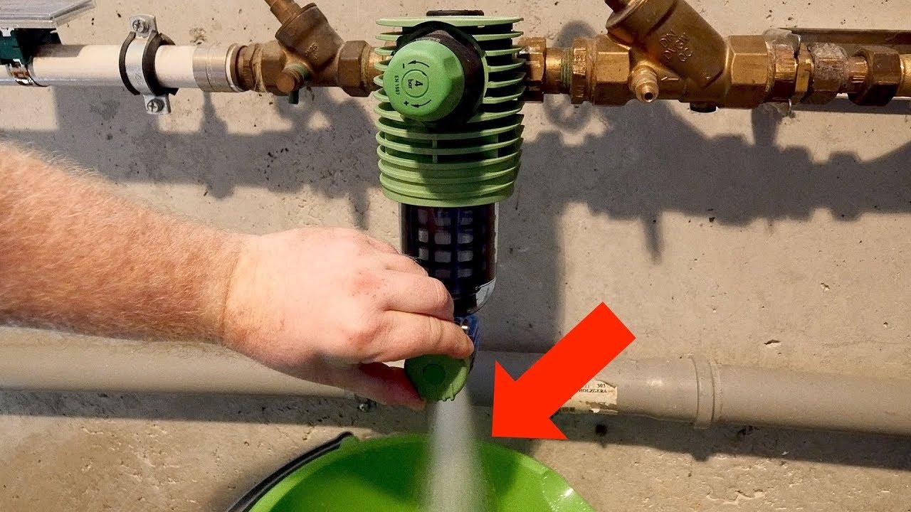 Fabulous Wasserfilter am Hausanschluss reinigen // Grünbeck Rückspülfilter CF77