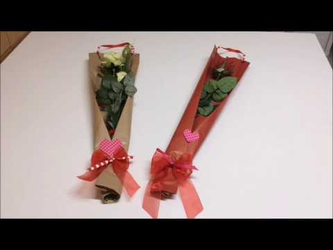 Wrapping a rose for Valentine's Day #wrapflowers