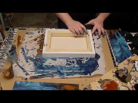 (11) Dip on parchment paper with acrylic pour
