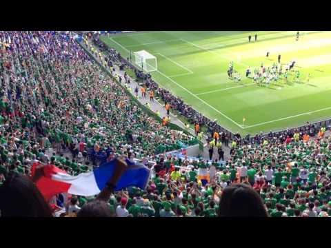 Irish fans singing for their team after France-Ireland at Parc Olympique Lyonnais   Euro 2016