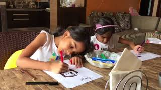 3 marker challenge with Ananya and Mithunans