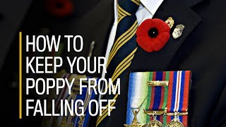How to keep your poppy from falling off