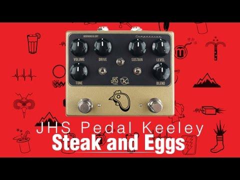 JHS Keeley Steak N Eggs Overdrive/ Compressor Demo - Melodia Musik