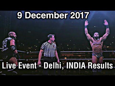 WWE Live Event Highlights India - 9 December 2017 IGS Stadium  Match Results !!