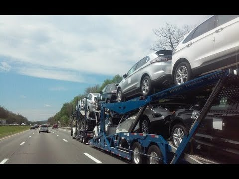 👑  New York City Auto Transport | Watch Auto Carrier Load & Unload | Viceroy Auto Trans