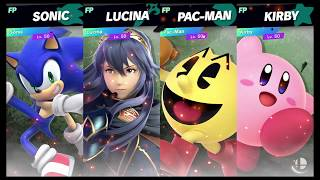 Super Smash Bros Ultimate Amiibo Fights   Request #4760 Sonic vs Lucina vs Pac Man vs Kirby