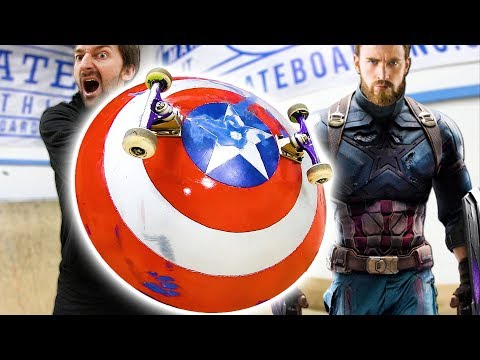 CAPTAIN AMERICA'S SHIELD | INFINITY WARS SKATE EVERYTHING