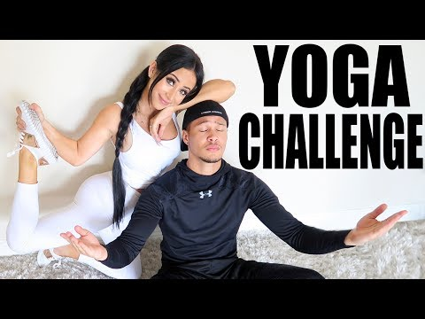 YOGA CHALLENGE WITH A RANDOM (hot) STRANGER thumbnail