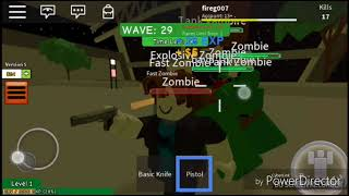 ROBLOX-Surviving a zombie attack or almost
