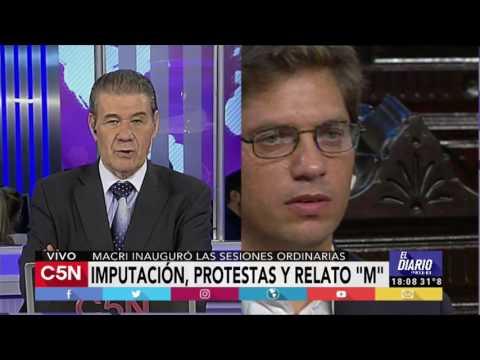 """C5N - El Diario: El editorial de Victor Hugo, """"Imputación, protestas y relato M"""""""