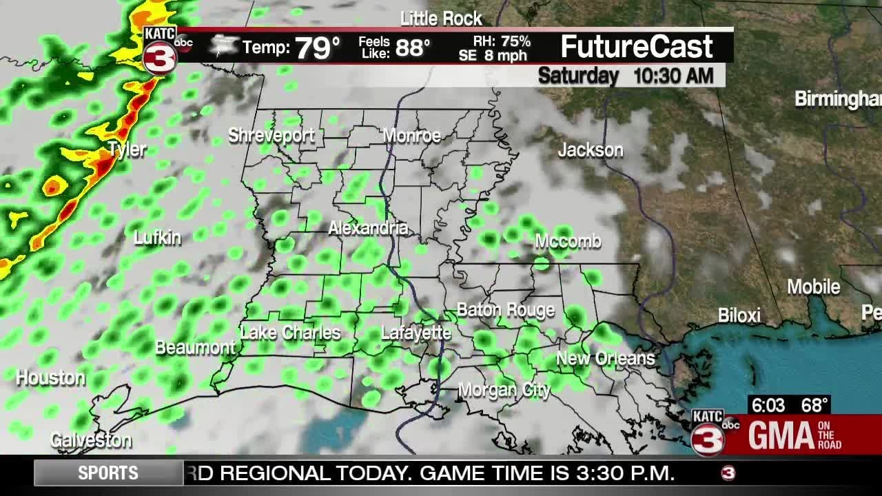 Showers popping up over the weekend