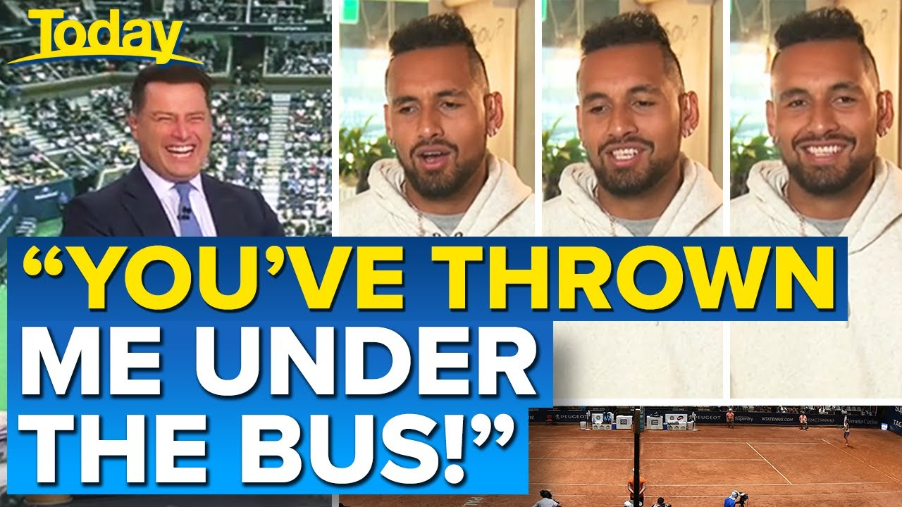 Karl's question derails Nick Kyrgios interview | Today Show Australia