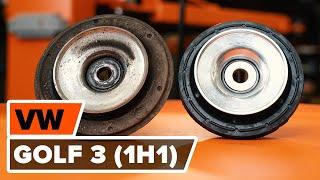 Iskunvaimentimen yläpään laakeri asennus VW GOLF III (1H1): ilmainen video