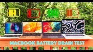 MacBook Battery Drain Test / 12-Inch MacBook vs MacBook Air vs 13
