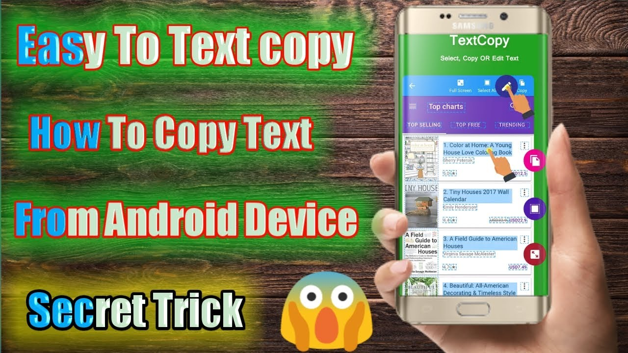 Easy To Textcopy Copy Paste Translate anything on screen   How to copy Text from Android Device ...