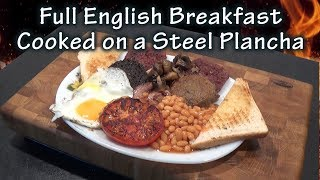 Full English Breakfast cooked on a Steel Plancha by The BBQ Chef