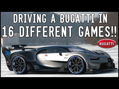 DRIVING A BUGATTI IN 16 DIFFERENT GAMES!!! GT Sport, Forza 7, NFS, Horizon 3 + More