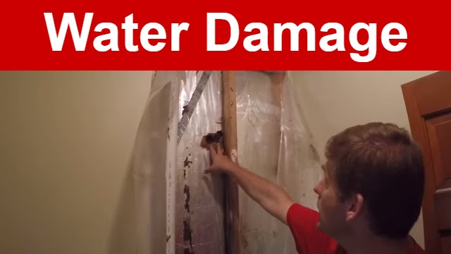 Vlog Water Damage To Bathroom Wall From Leaking Gutter YouTube - Bathroom water damage