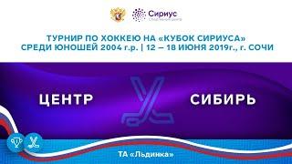Хоккейный матч. 14.06.19. «Центр» - «Сибирь»