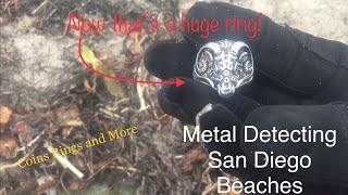 Metal Detecting San Diego Beaches- Now That's a Huge Ring! Sex on Da Beach? Memorial Day a Bust?