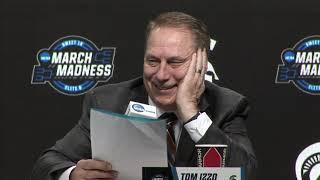 TOM IZZO & PLAYERS FORMAL PRESSER POST SWEET 16 WIN OVER LSU!