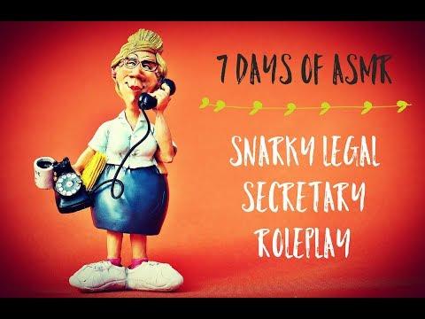 ASMR | Day 5:  Snarky Legal Secretary Roleplay (Soft Spoken,Typing, Mouth Sounds) | 7 Days of ASMR