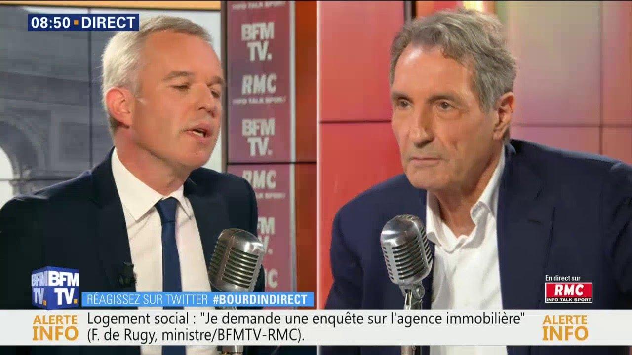François de Rugy etait l'invité de Jean-Jacques Bourdin dans