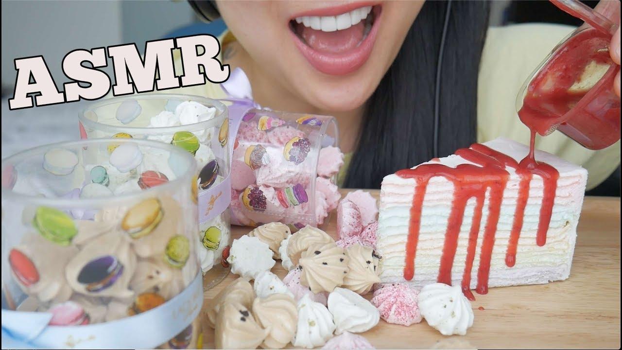 Asmr Crepe Cake Mini Meringue Soft Crunchy Eating Sounds Sas Asmr Youtube Asmr crepe cake *rainbow (eating sounds) 크레이프 케이크 리얼사운드 먹방 no talking mukbang what i am. asmr crepe cake mini meringue soft crunchy eating sounds sas asmr