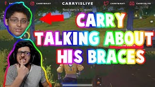 carry talking about his braces | carryislive | pubg mobile highlights