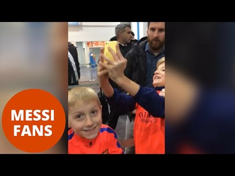 Two boys go crazy over meeting Lionel Messi