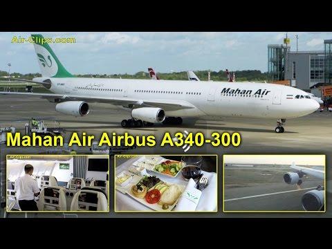 Mahan Air Airbus A340-300 FANTASTIC Business Class Düsseldorf-Tehran  [AirClips full flight series]