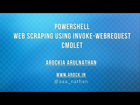 PowerShell WebScraping - Part 1