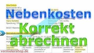 Nebenkosten (Betriebskosten) korrekt abrechnen, Praxis-Ratgeber, Streit vermeiden - vermietershop.de