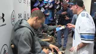 Foot Locker Visit With Under Armour and Kemba Walker